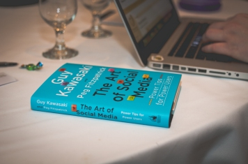 Reading material from speaker Guy Kawasaki. Image by Jen Hooks