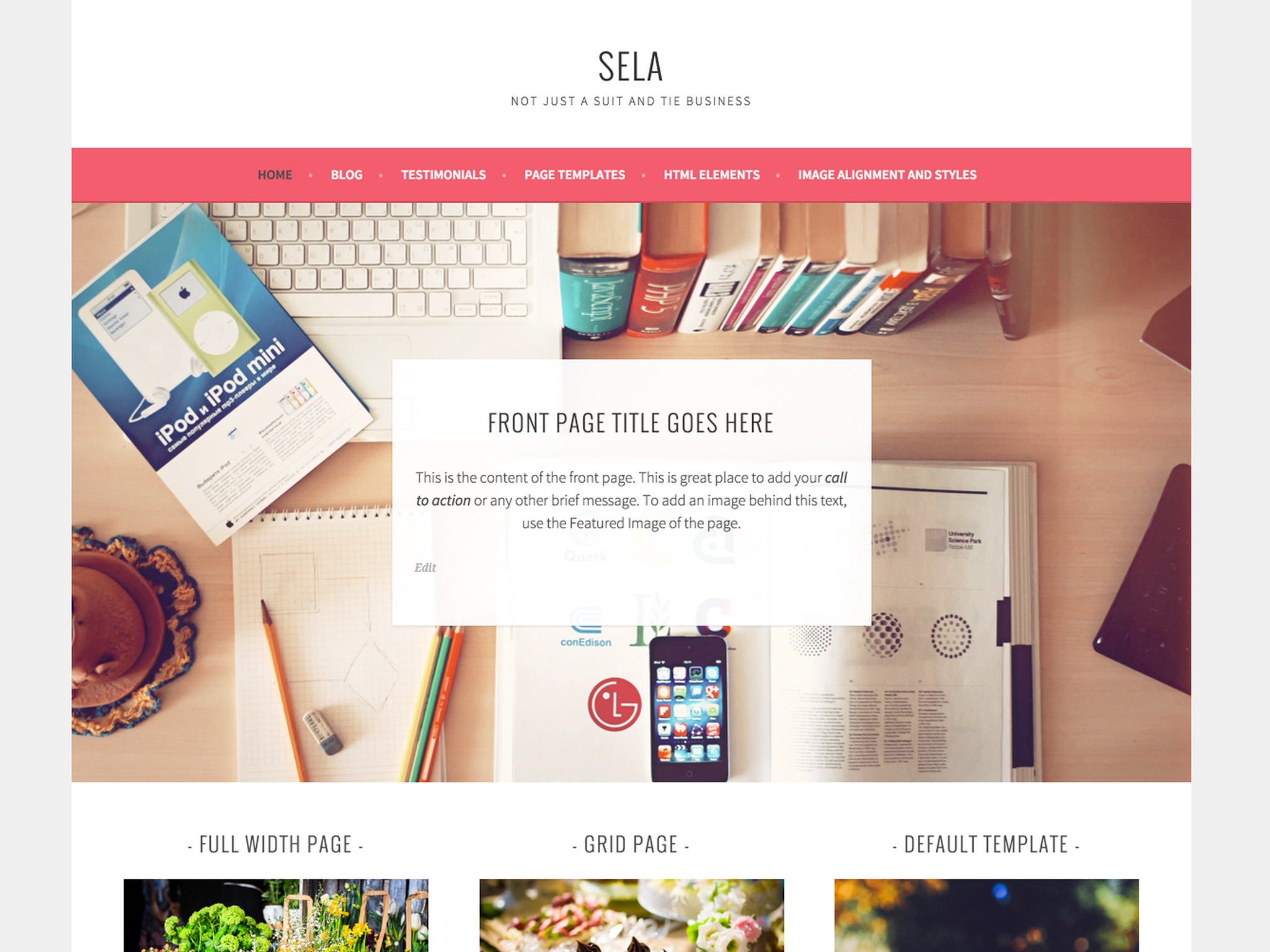 New themes boardwalk and sela news for If page template wordpress
