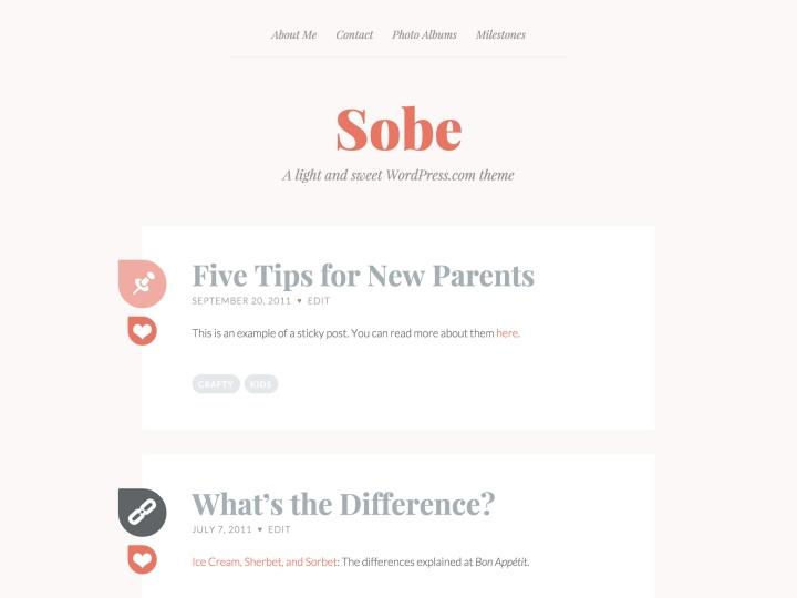 Sobe WordPress Theme