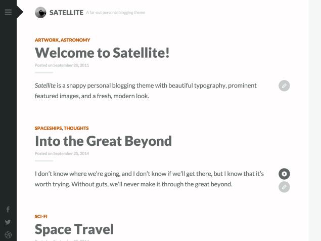 Satellite WordPress theme