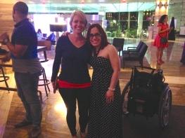 Karen and blogger Laura Tellado