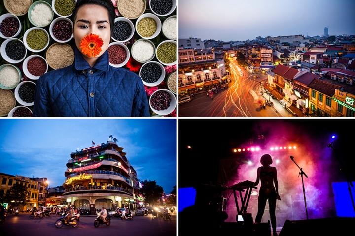 Diversas fotografias de Hanoi, Vietnã.