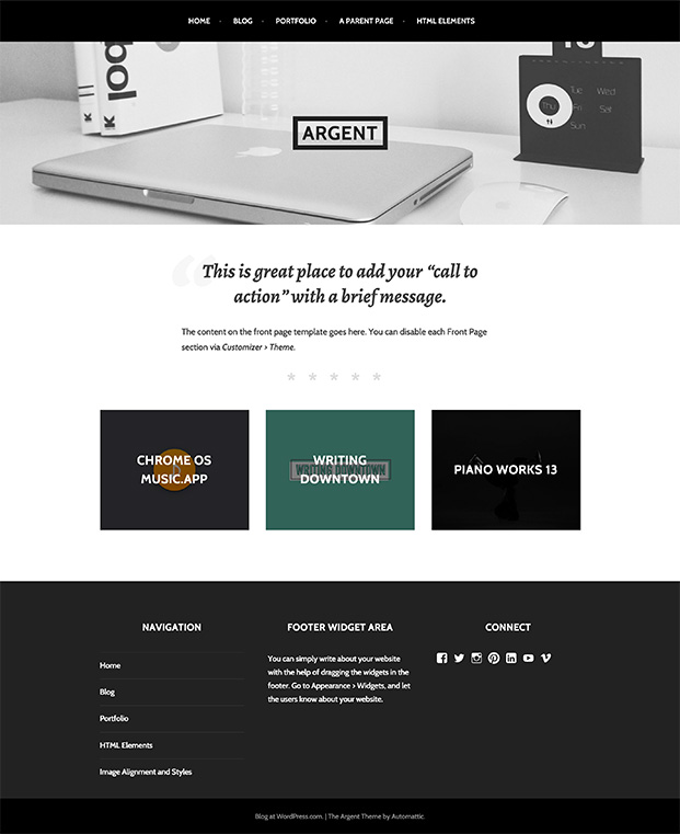 Argent WordPress Theme