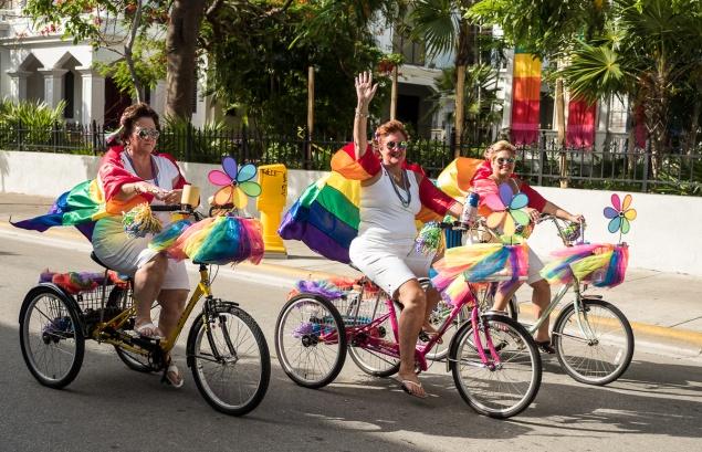 Pride parade, Key West, Florida, USA. Photo by Ron Mayhew Photography.