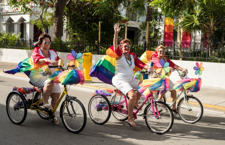 Pride parade, Key West, Florida, USA. Photo by Ron Mayhew Photography.