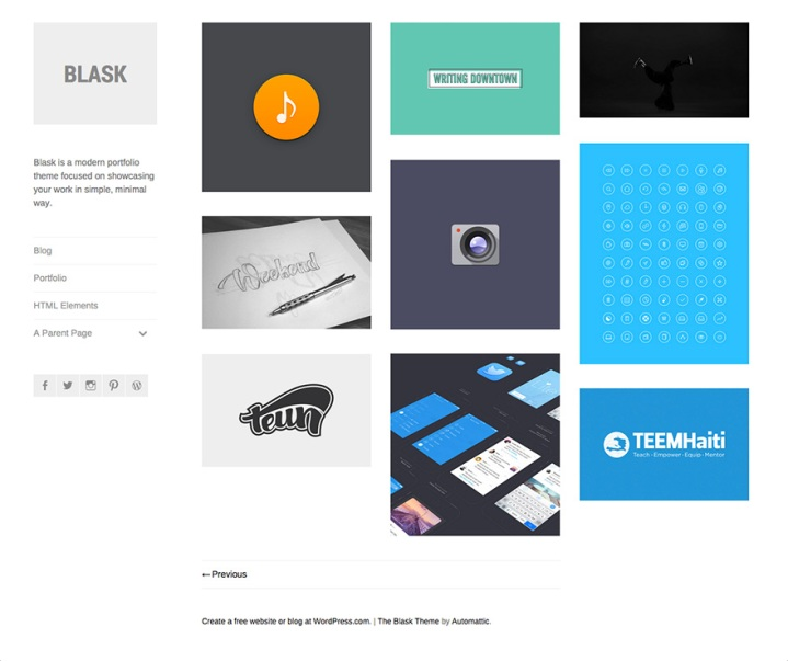 New theme blask the wordpress blog blask minimal portfolio theme maxwellsz