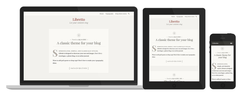 Libretto: design responsivo