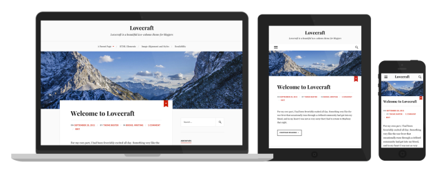 Tema Lovecraft Responsive WordPress