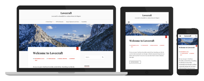 Lovecraft Responsive WordPress Theme