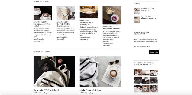 Temas versátiles para revistas en línea – Newsletter