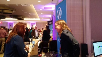 Talking with WordPress users at the Expo