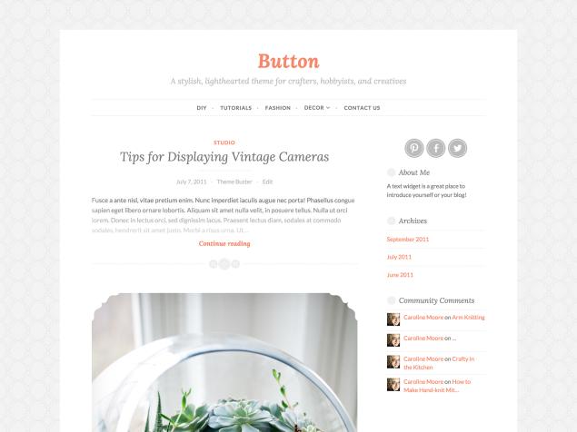 Button WordPress Theme