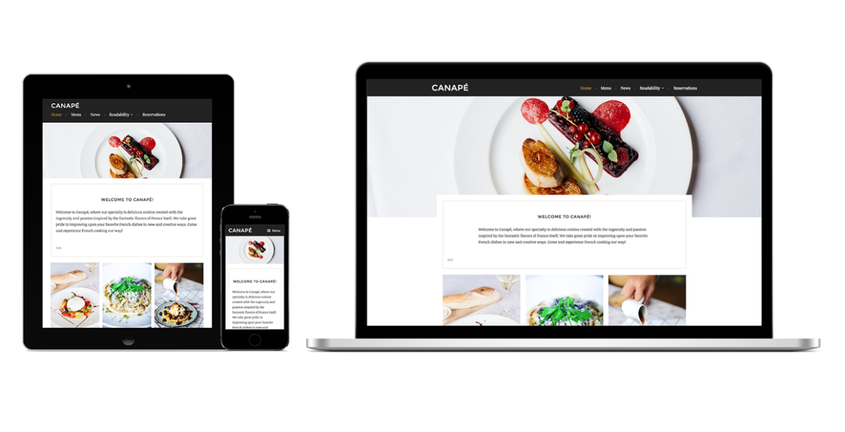New free theme canap premium wordpress support for Canape software