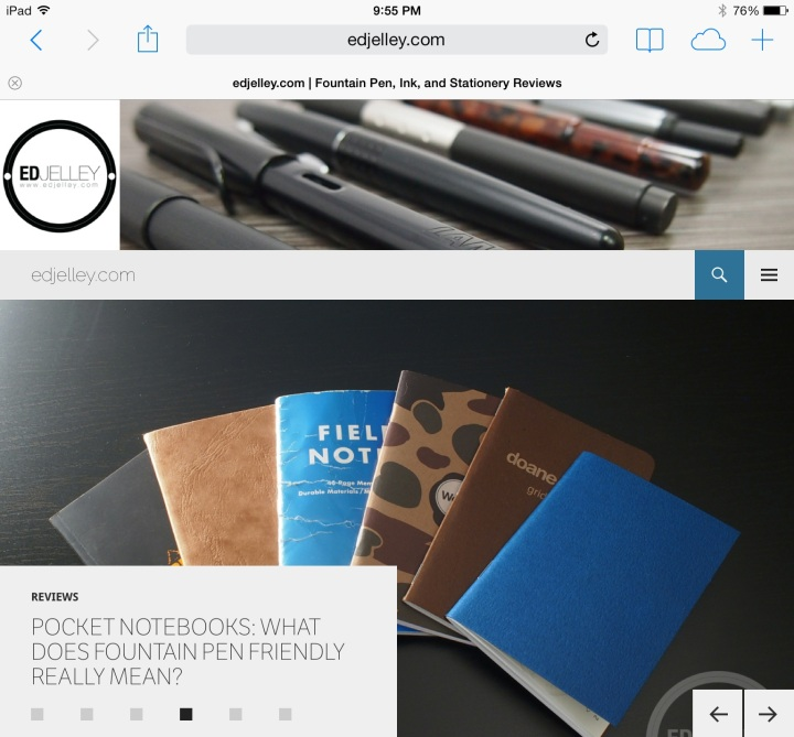 edjelley.com viewed on an iPad