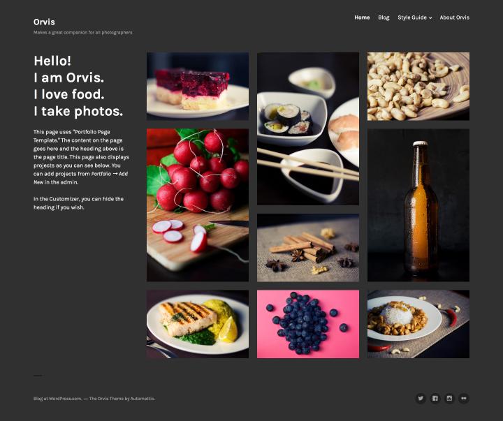Orvis: Portfolio Page Template