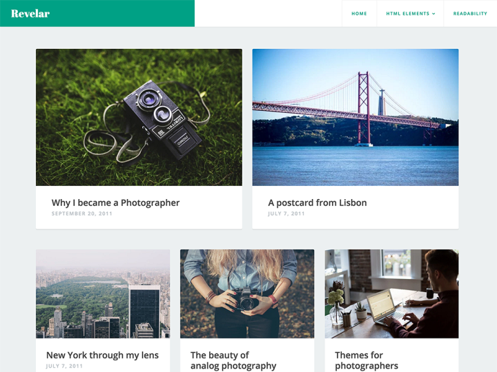 Revelar WordPress Theme