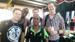 From left: Matty, Nelson Kwaje, Gareth (rear), David Wampamba, and Job.