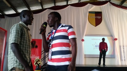 Yoza app founder Solomon Kitumba excelled as event emcee.