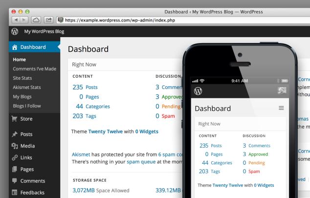 Screenshot of the new dashboard design