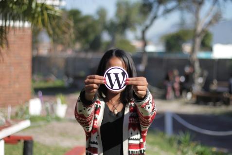 Student spreading WordPress love