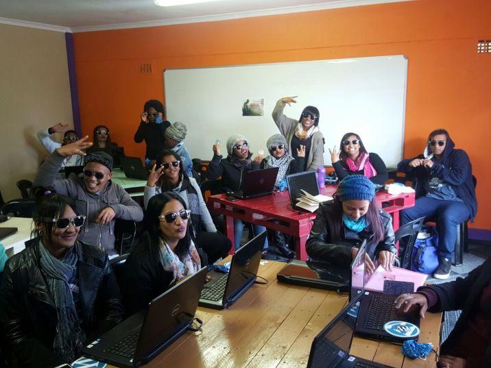 Students enjoying their WordPress sunglasses