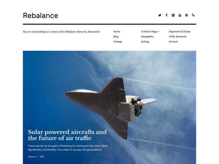 New Theme: Rebalance