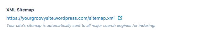 XML Sitemap Link