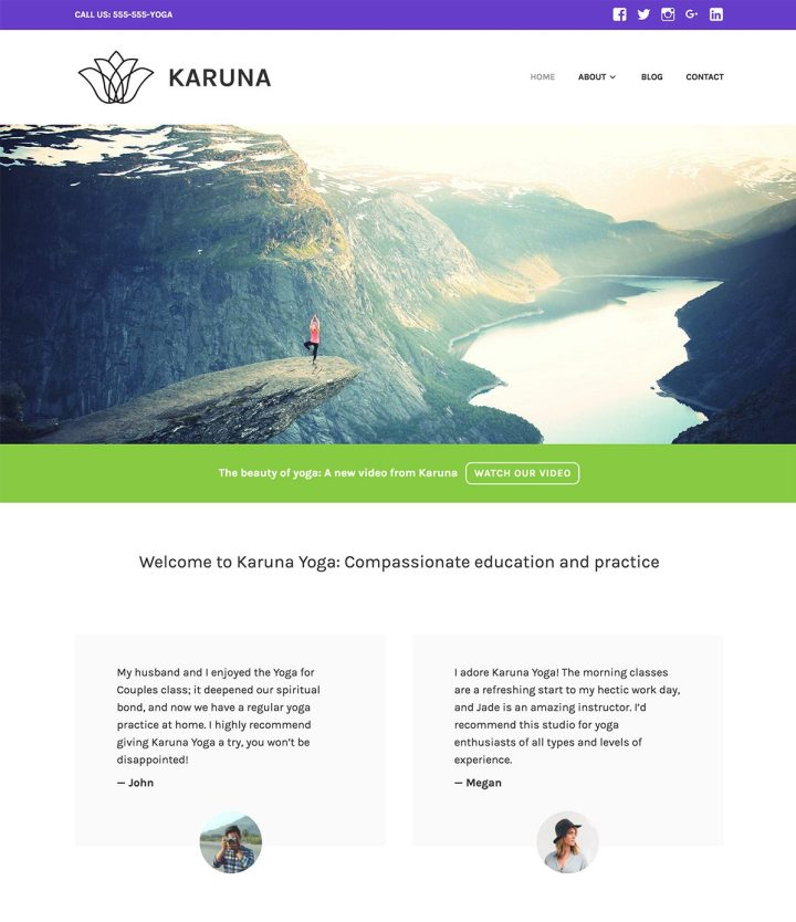 Tema Karuna de WordPress