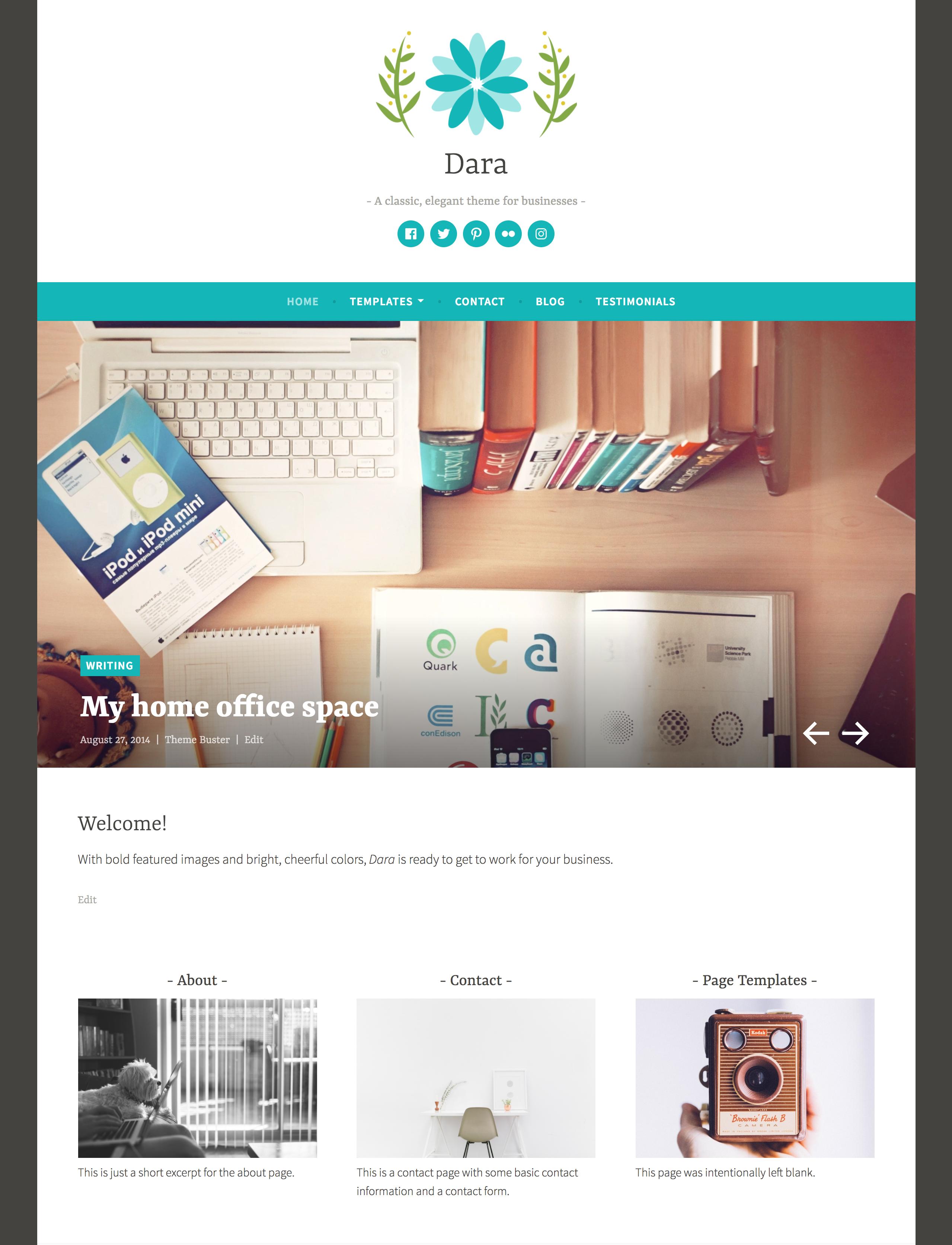 Dara responsive WordPress theme