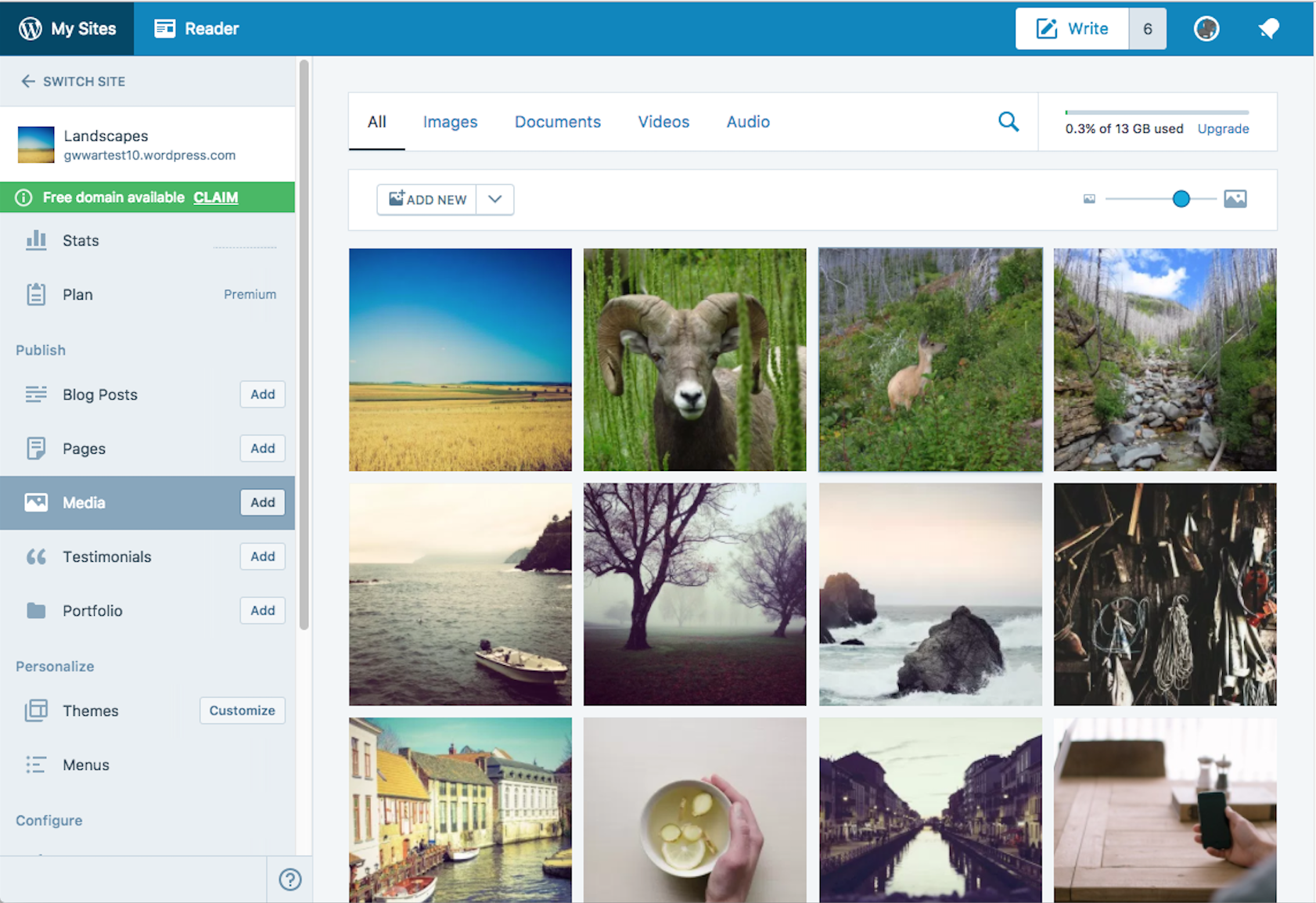 Save Your Favorite Images and Media on WordPress.com, Anytime