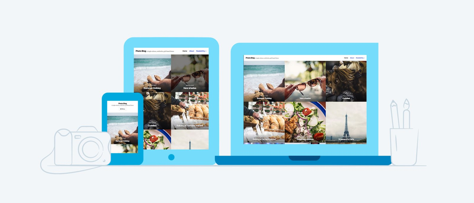 New Premium Themes: Small Business and Photo Blog 5