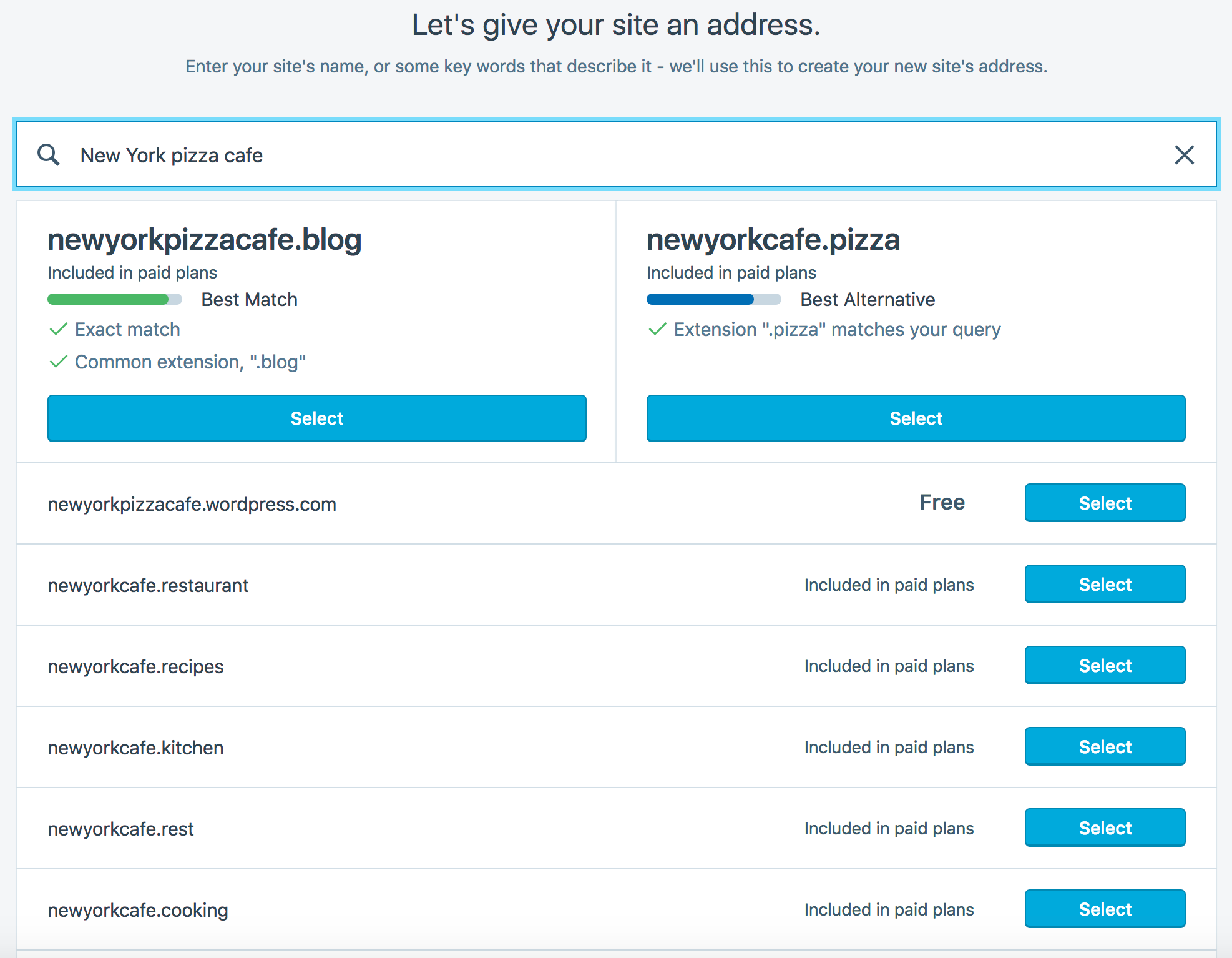 A Better Way to Find Your Next Domain Name — The WordPress com Blog
