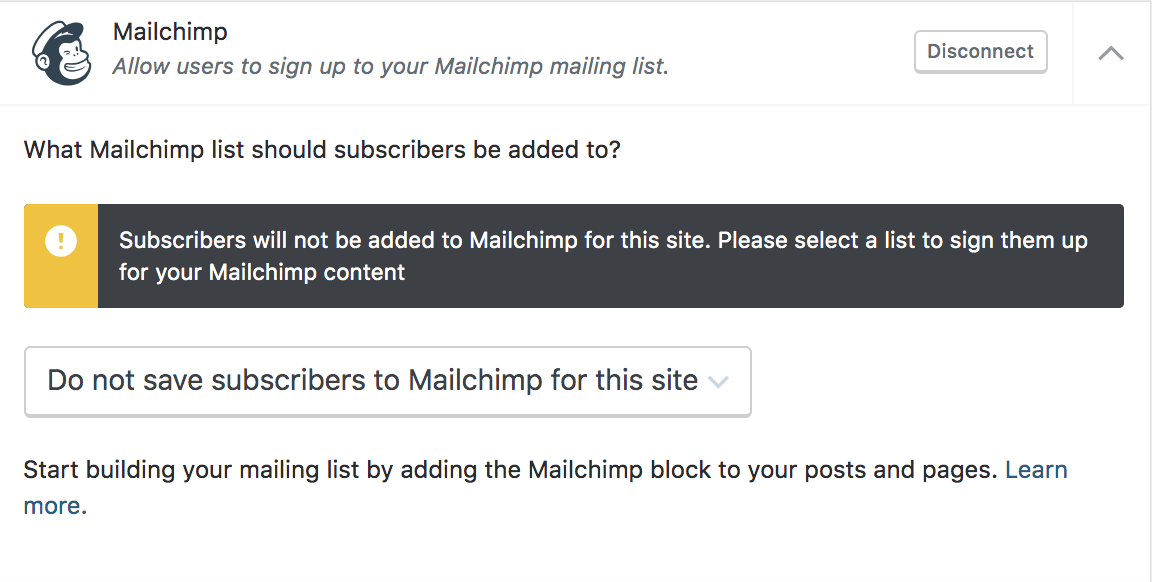 screen-shot-2019-04-10-at-4.16.14-pm Boost Visitor Engagement and Grow Your Mailing List with the Mailchimp Block WPDev News  Embeds|New Features|WordPress.com