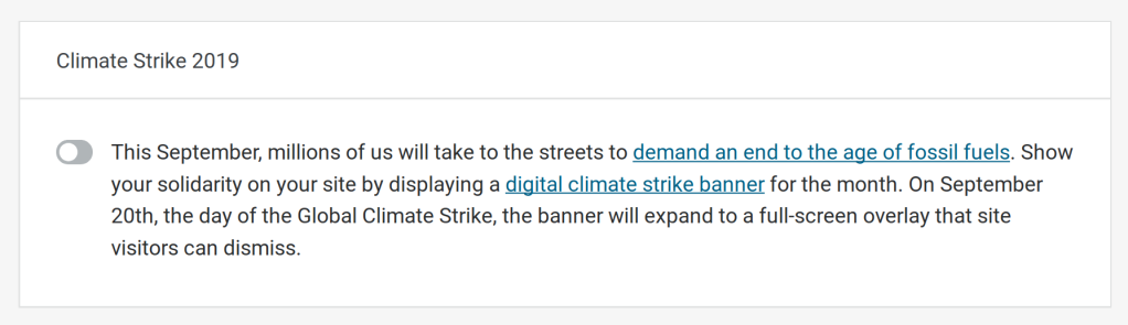 screenshot_2019-09-10-site-settings-e280b9-jack-lenox-e28094-wordpress-com Join us in a Digital Climate Strike WPDev News  Automattic|Community