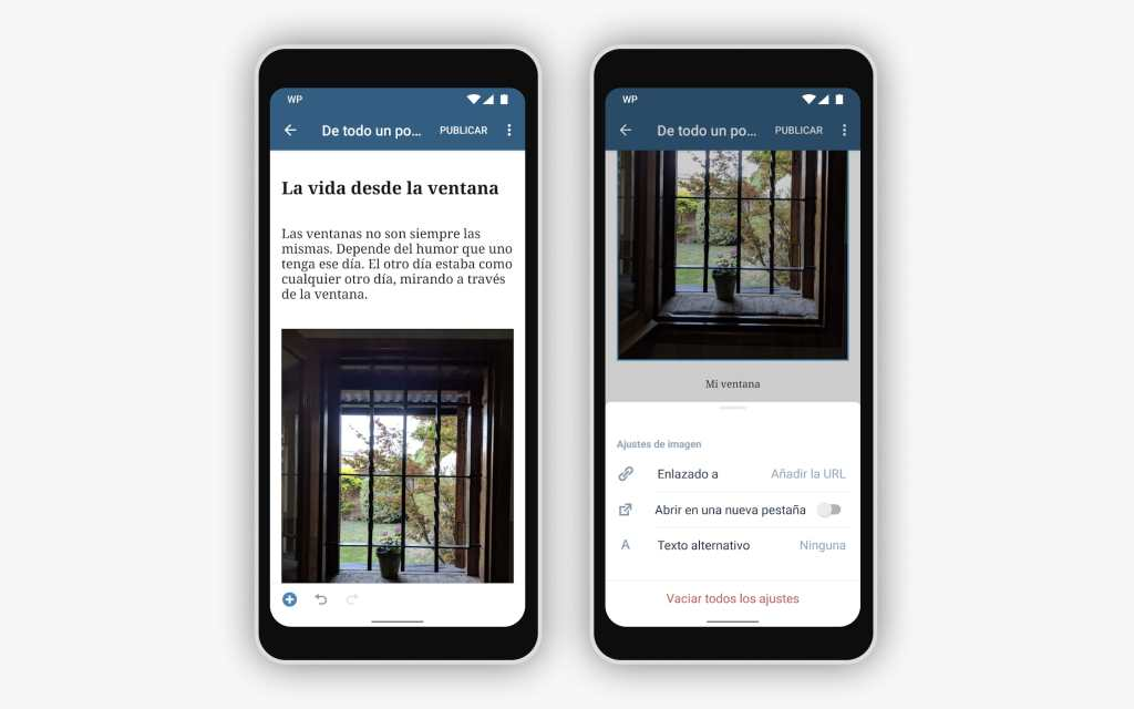 mobile-block-editor-android-spanish-light402x The Block Editor is Now Supported on the WordPress Native Apps WPDev News  Mobile|New Features|Block editor|languages|Translation|WordPress for Android|WordPress for iOS