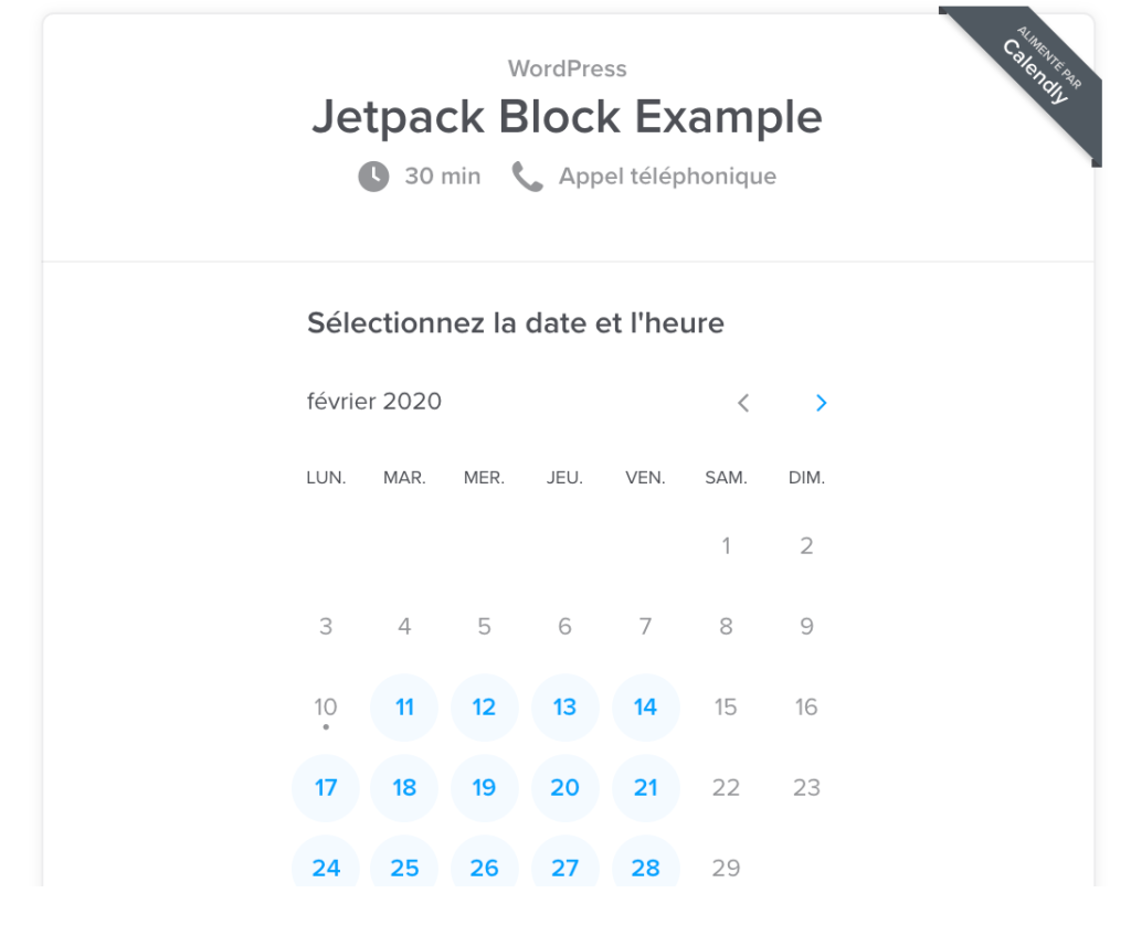 calendly-image Make Your Business More Accessible with New Blocks WPDev News  blocks|Earn from your site|Embeds|Features|HowTo|New Features|WordPress.com|Block editor|business|Calendly|Eventbrite|Google calendar|Maps|OpenTable|Pinterest|Small Business