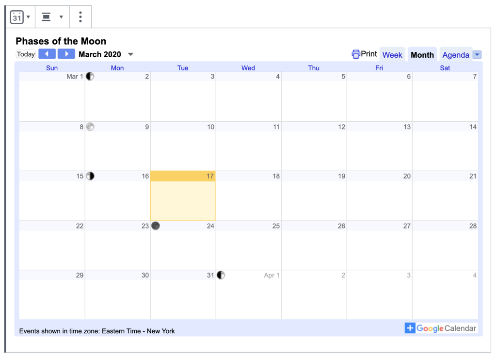 google-calendar Make Your Business More Accessible with New Blocks WordPress