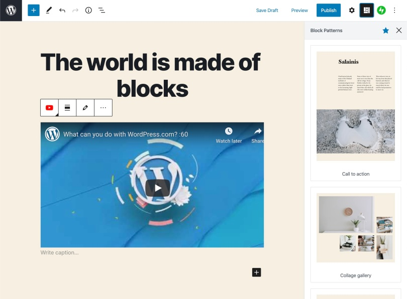 The world is made of blocks