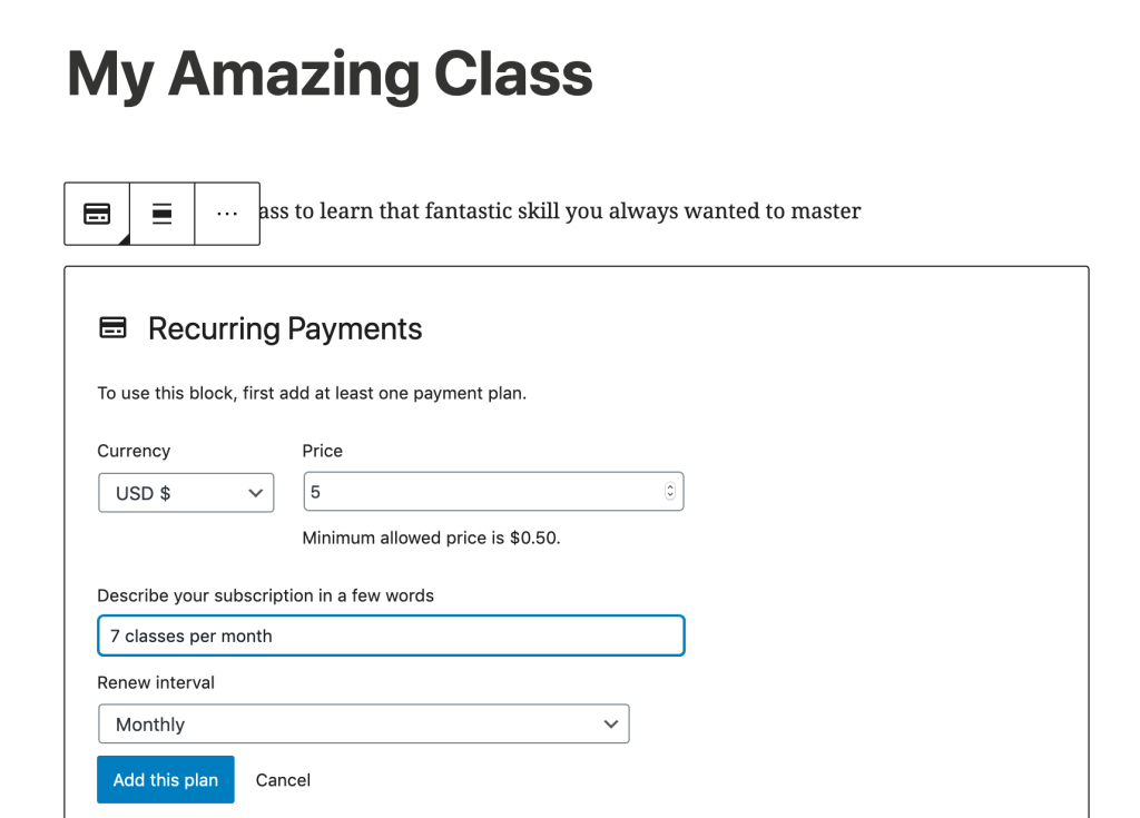zrzut-ekranu-2020-03-26-o-19.00.03 How to Move Your Classes Online — and Charge for Them WPDev News  Earn from your site|HowTo|Resources|Support|WordPress.com|Calendly|Earn|Education|Recurring Payments|subscription|tutorials