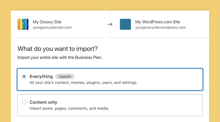 import-wordpress-everything Import Your WordPress Site to WordPress.com — Including Themes and Plugins WPDev News  Admin Bar