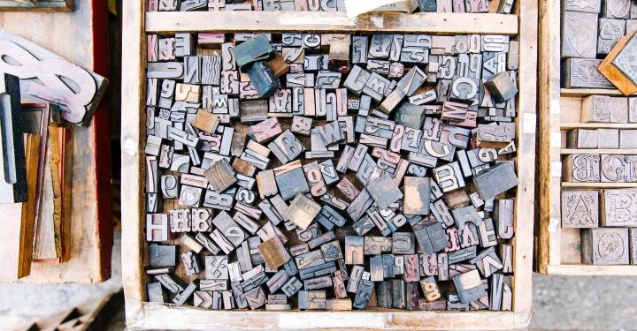 letter type blocks