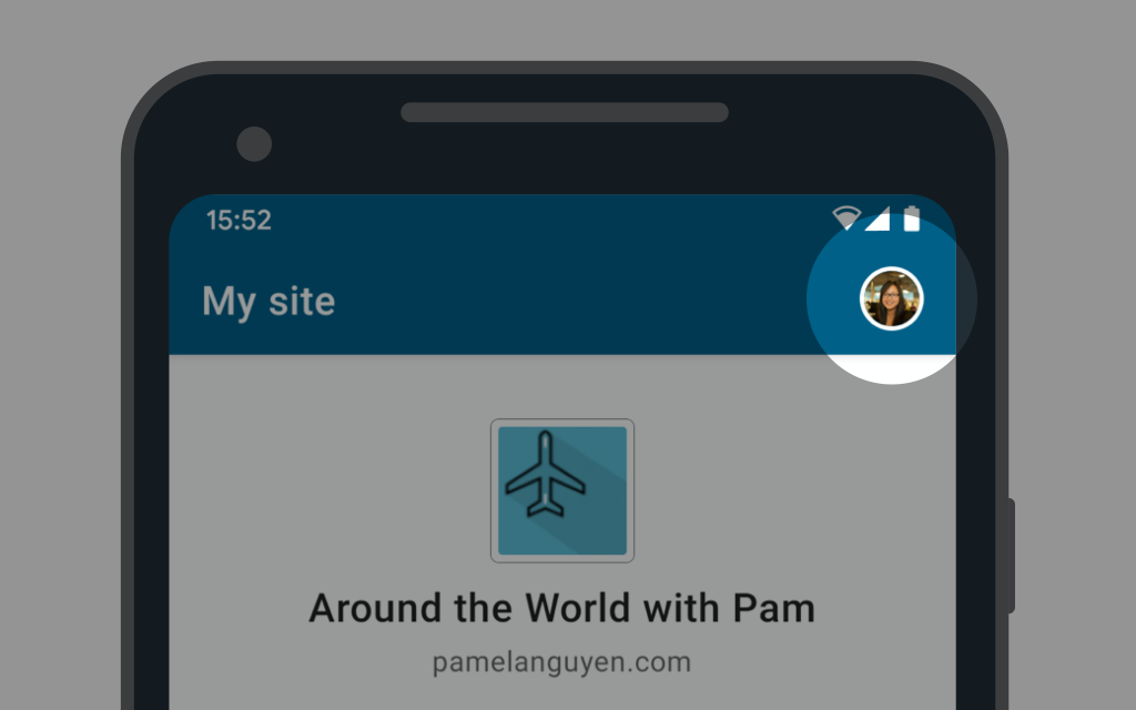 profile 2 - Improved Navigation in the WordPress Apps