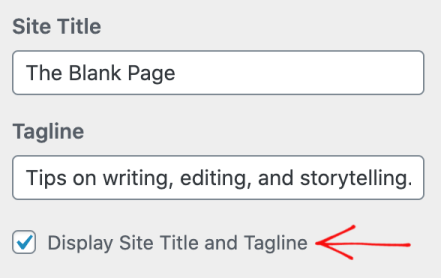 The module in My Sites where you insert your Site Title and Site Tagline
