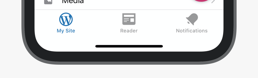 three tabs 2 - Improved Navigation in the WordPress Apps