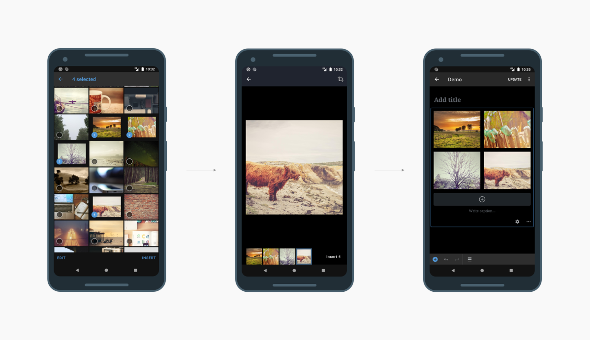 Editing and Enhancing Images in the WordPress Apps