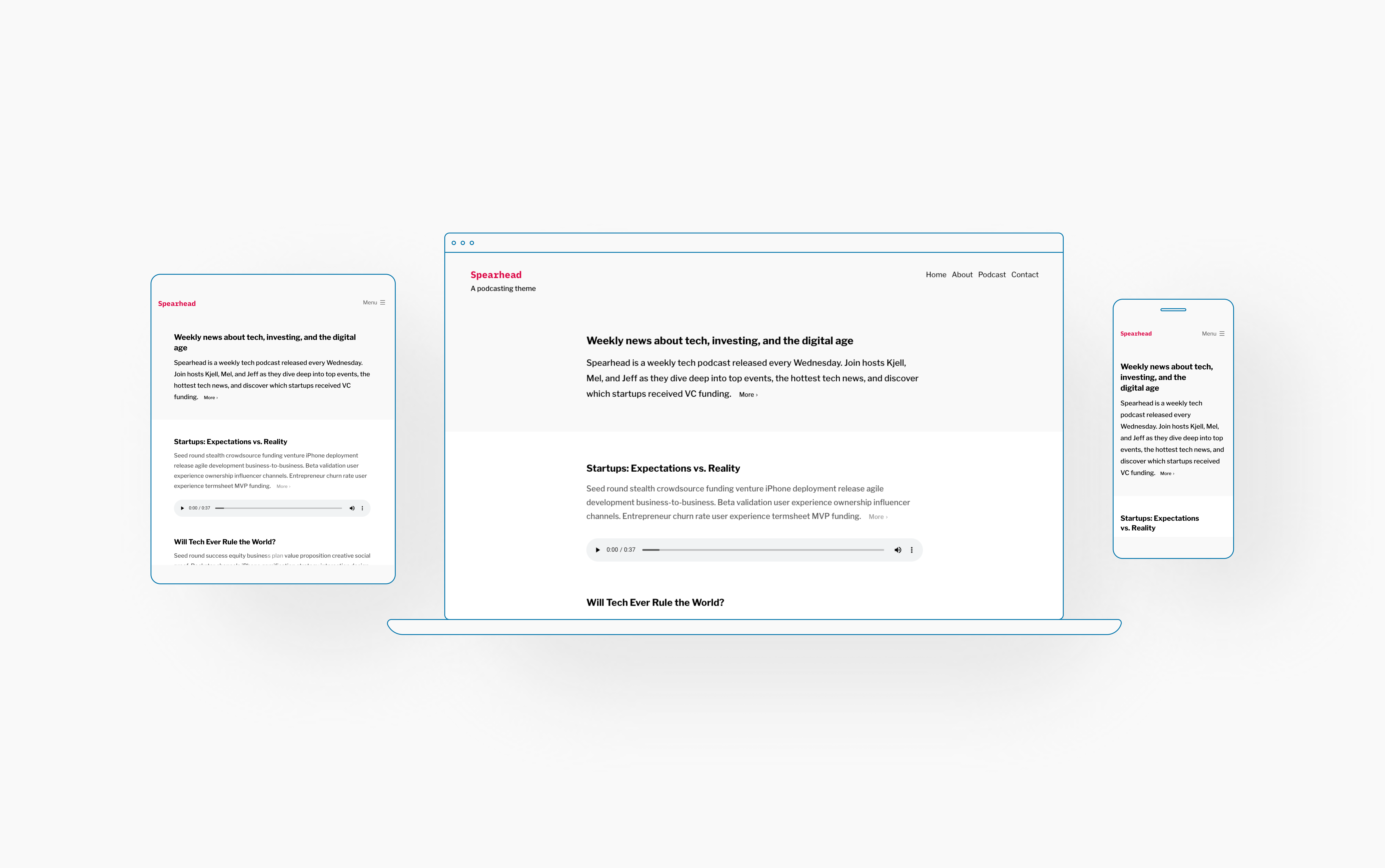 The Spearhead Theme: A Minimal Design and Clean Slate for All Content Creators