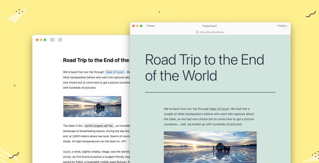 publishing Publish and Update WordPress Posts Directly From Ulysses WordPress