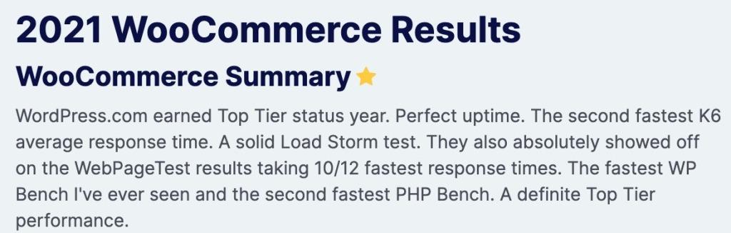 WordPress.com fastest WooCommerce host