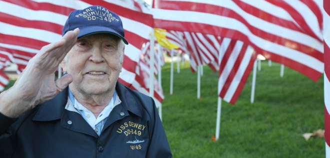Electrician's Mate Second Class William Bud Cloud, Pearl Harbor Survivor.