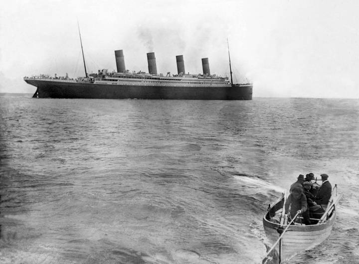 What may be the very last photograph of the Titanic leaving Cork Harbour Via.